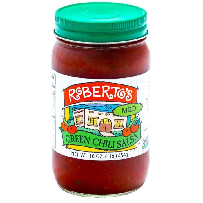 This Roberto's organic mild green chili salsa is red in color but homemade in colorado within the high rocky mountains by the Roberto's family. This salsa is mild and not too spicy or hot. 8 ounce jar.