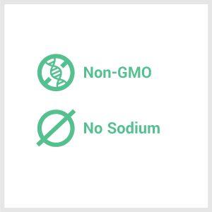 no GMO and no sodium. healthy and tasty